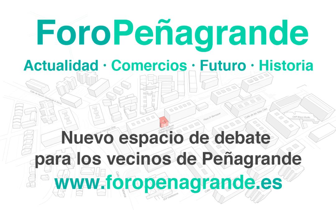 Nace ForoPeñagrande, el espacio de debate del barrio