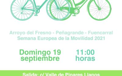 19 de septiembre: Bicicletada por una movilidad sostenible
